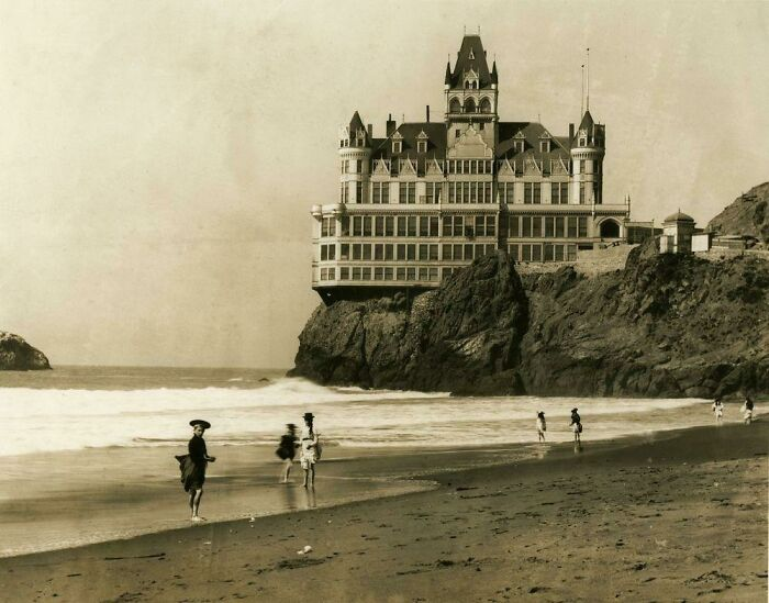 San Francisco's Iconic Cliff House, Shortly Before It Was Destroyed By Fire In 1907