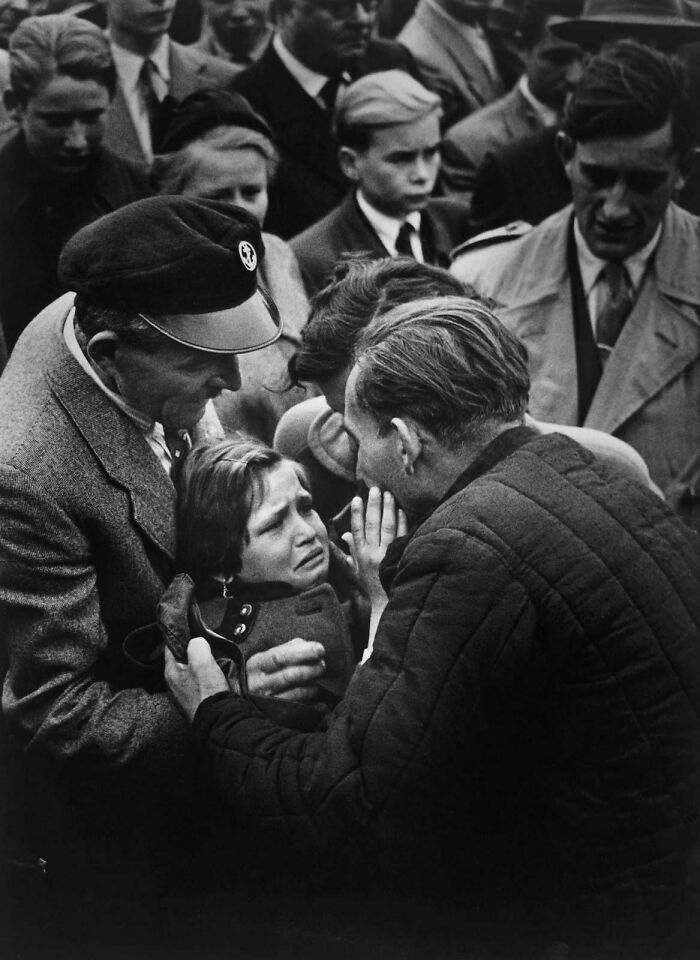 A German World War II Prisoner Is Released By The Soviet Union And Reunited With His 12-Year-Old Daughter, Who Has Not Seen Him Since Infancy. 1956