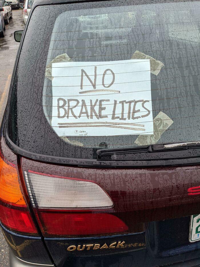 No Brake Lites