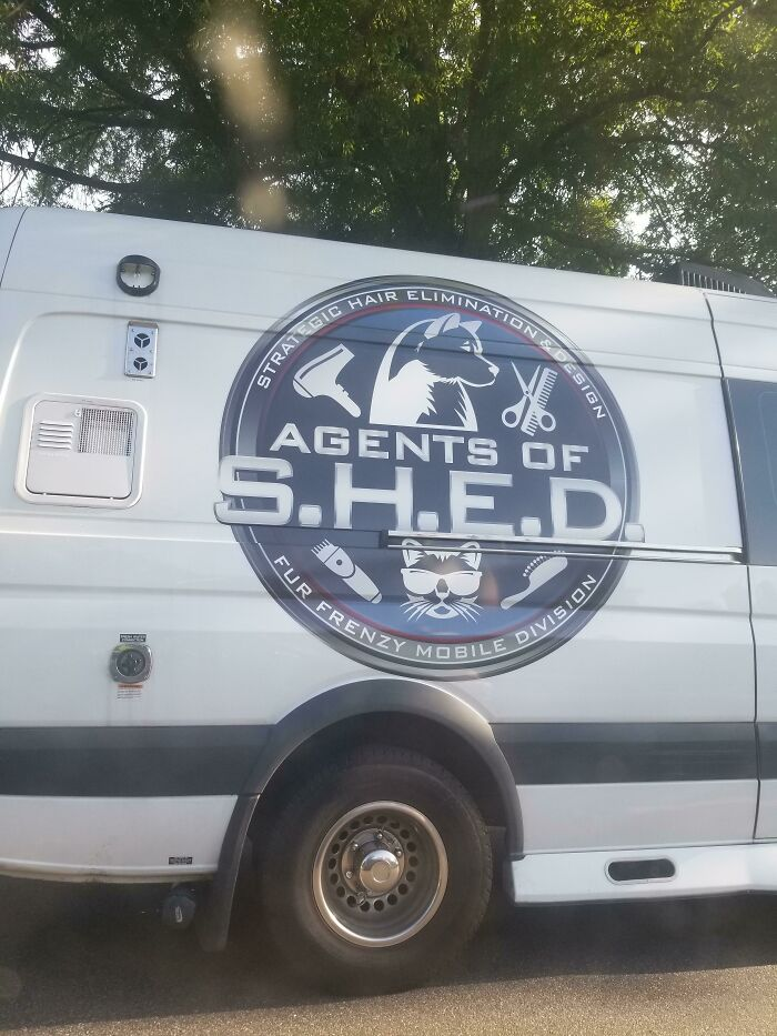 Saw This Logo For A Pet Grooming Service On My Drive Home