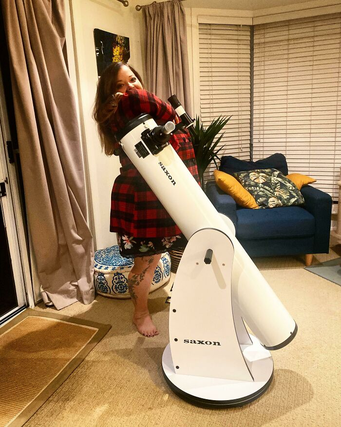 Got A Deep Space Telescope For My 38th Birthday. Me For Size!