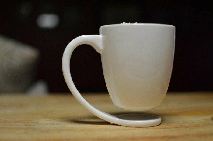 This Floating Mug - To Eliminate Coasters