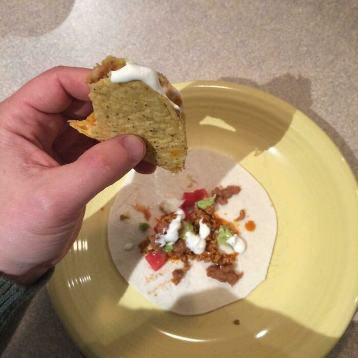 If You Eat A Hard Taco Over A Soft Tortilla Shell You Get A Second Taco