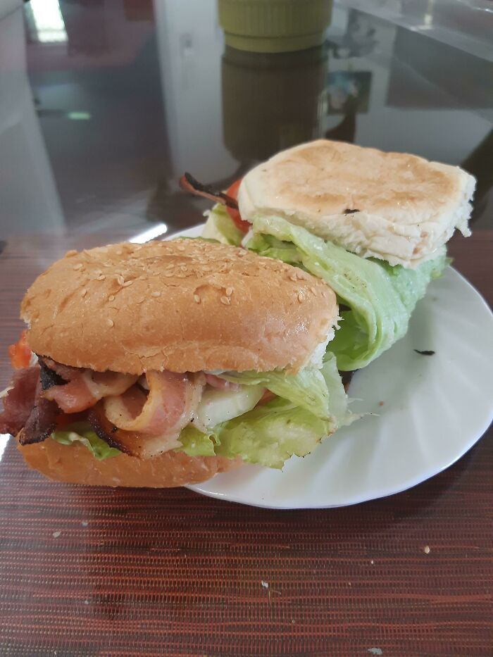 Wrap A Piece Of Lettuce Around One Side Of Your Sandwich/Burger To Keep The Goods From Falling Out The Other Side
