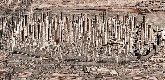 Torres de Bolonia, Italia. Construidas en el siglo XII. Con el paso del tiempo fueron demolidas y otras se derrumbaron. Hoy sólo quedan 2
