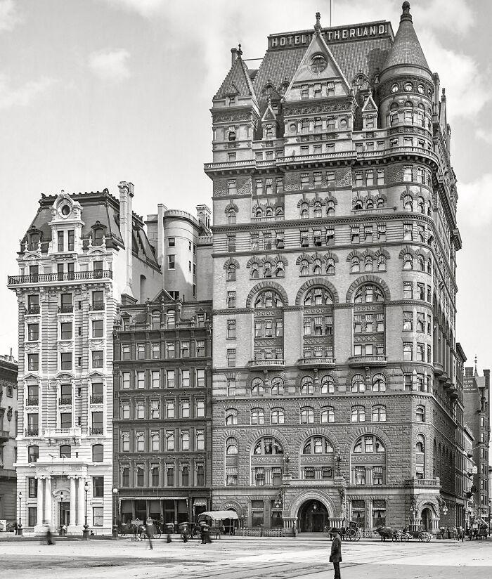 El Hotel Netherland (NYC) fotografiado en 1905 y posteriormente demolido en 1927