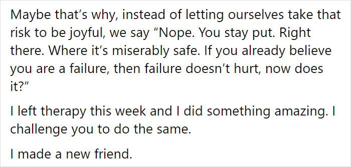 Woman Explains Why Becoming Our Own Friend Instead Of Being Mean To Ourselves Is So Difficult