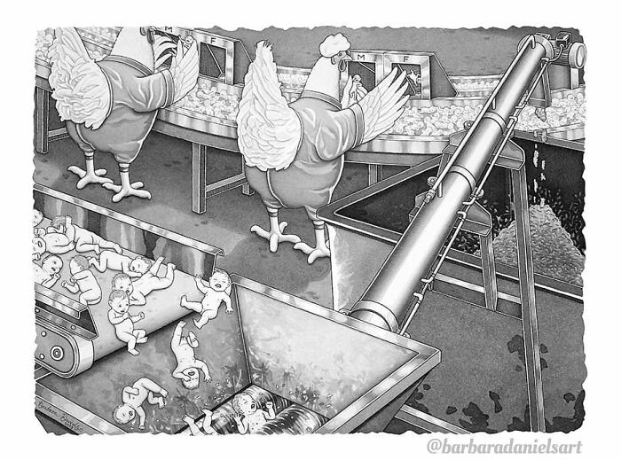 Artist Creates Illustrations Where The Roles Of Humans And Animals Are Reversed, And The Reality Is Thought-Provoking (50 Pics)