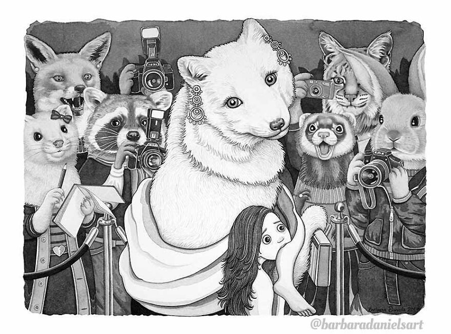 Artist Shows When Animals Take The Place Of Humans In Stunning Illustrations