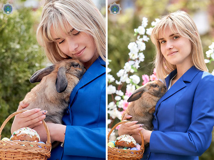 This Police Rabbit Joined The Ukrainian Police Force For A Day