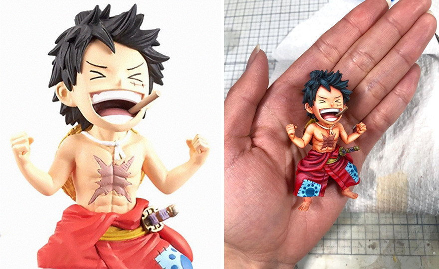 Japanese Artist Takes 3D Sculptures And Makes Them Look Like Manga-Style Illustrations