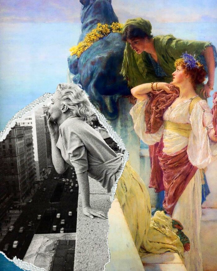 What Happens When You Combine Famous Paintings And Pop Culture: Artist Creates 40 Collages To Answer That Question