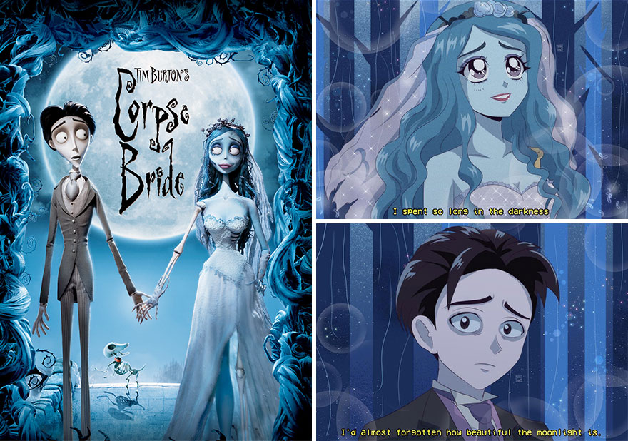 Mexican Illustrator Turns Characters From Famous Movies And Series Into Anime