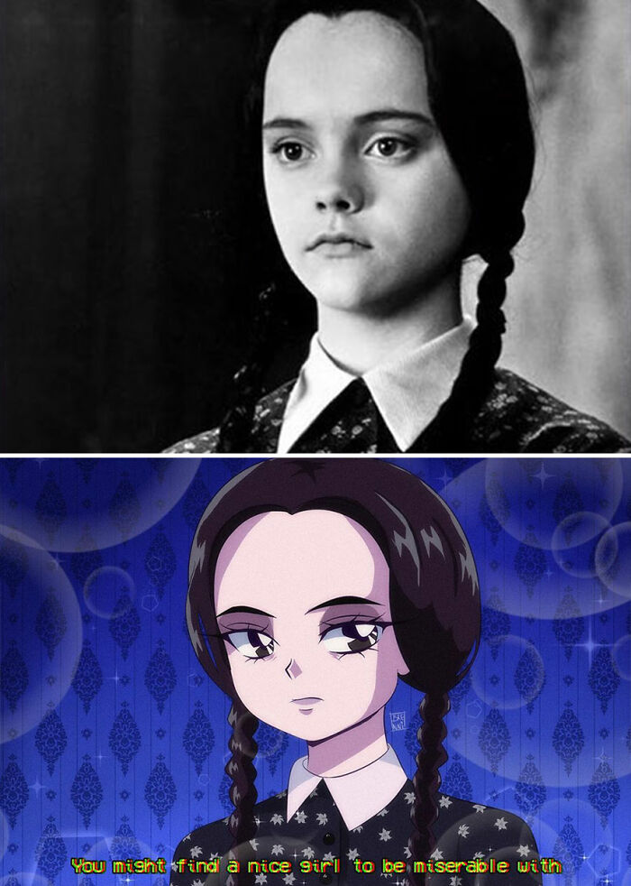 Artist Turns Popular Characters From Movies, TV Series, And Animation Into Anime (30 Pics)