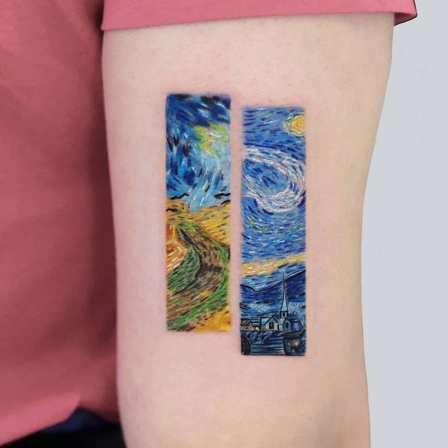 Micro Color Realism Tattoos By Hakan Adik