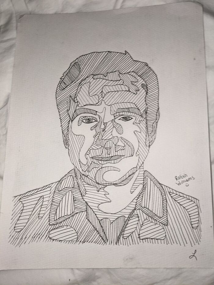Not My Best, But I Drew Robin Williams A While Back