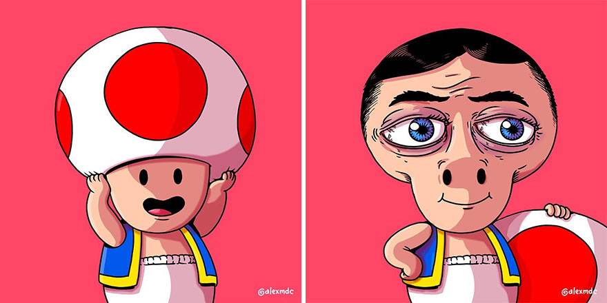 This Artist Explores An Alternate Reality Of Iconic Pop Culture Characters (New Pics)