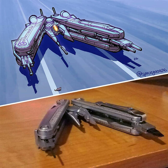 Artist Turns Everyday Things Into Spaceships, And The Result Is Out Of This World (23 New Pics)