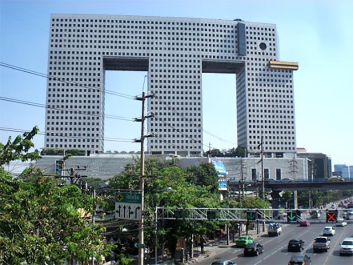 Bangkok's Elephant Building. The Tusks Are A Bowling Alley In My Imagination