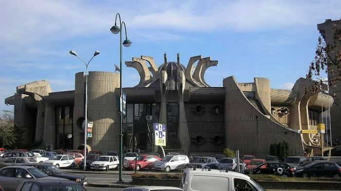 The Glorious Flower Of Communist Brutalism That Is The Former Central Post Office In Skopje, Macedonia. Some People Want It Preserved