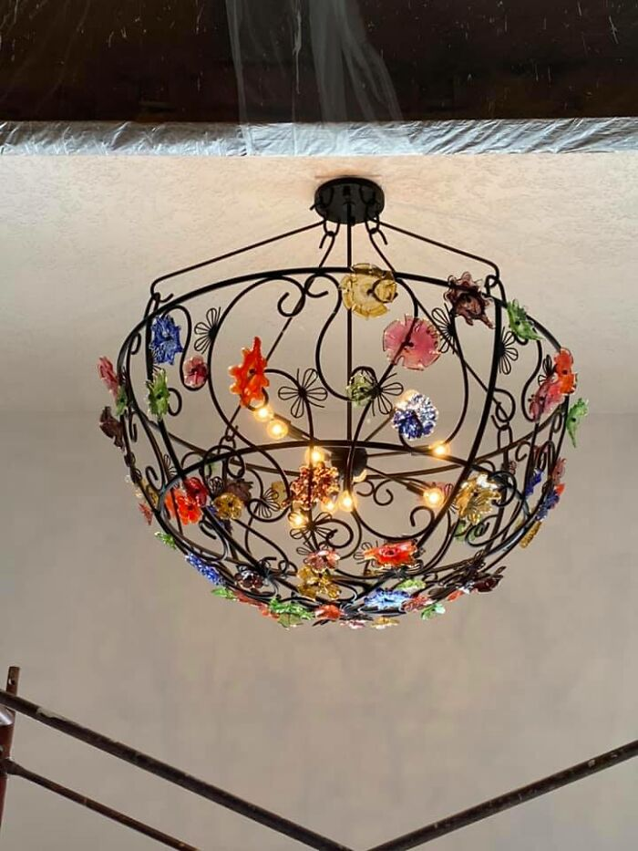 My Friend Gave Me This Chandelier