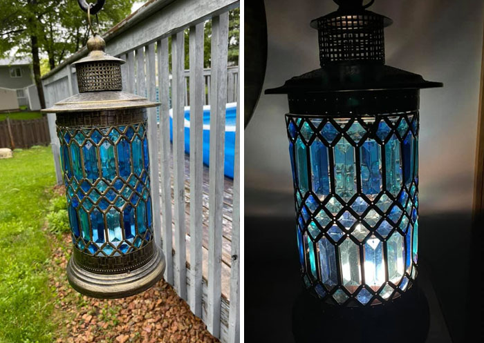 I Found This Beautiful Lantern At A Goodwill In Minnesota. I Still Don't Know Where It's Permanent Spot Will Be, But I Absolutely Love It! I Paid $15 For This One