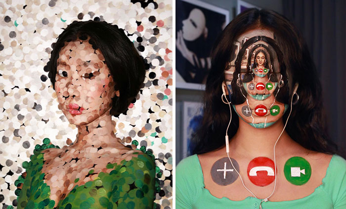 Korean Artist Goes Viral For Transforming Herself Into Mind-Bending Optical Illusions Without Any Photoshop (32 New Pics)