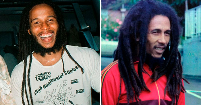 Ziggy Marley y Bob Marley