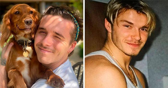 Brooklyn Beckham y David Beckham
