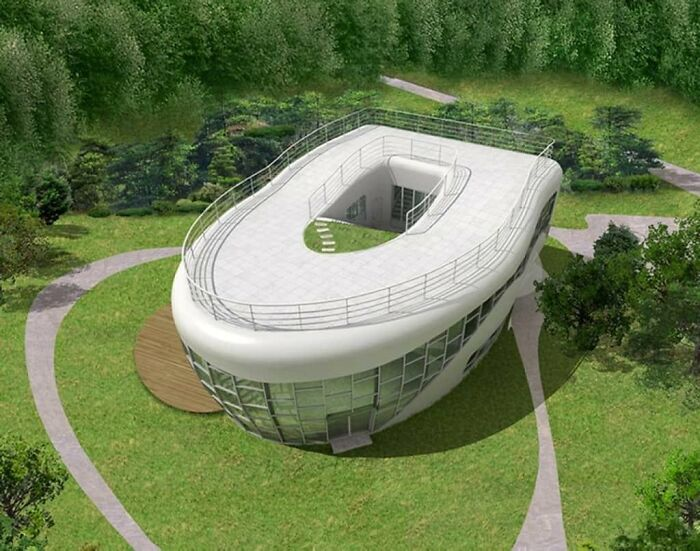 Toilet-Shaped House (Named Haewoojae), Built By Sim Jae-Duck, The Chairman Of The Organizing Committee Of The Inaugural General Assembly Of The World Toilet Association