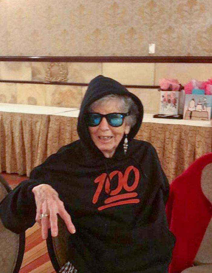 My Great-Grandma On Her 100th Birthday Today