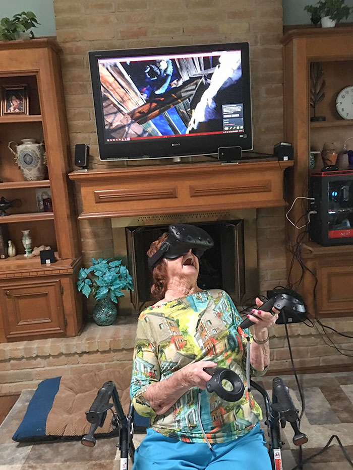My 96-Year-Old Grandma Playing VR Right Now