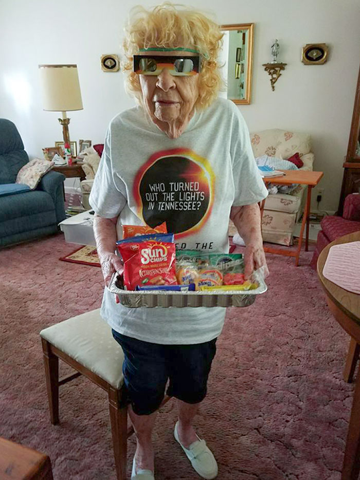 My 101-Year-Old Neighbor Was So Ready For The Eclipse