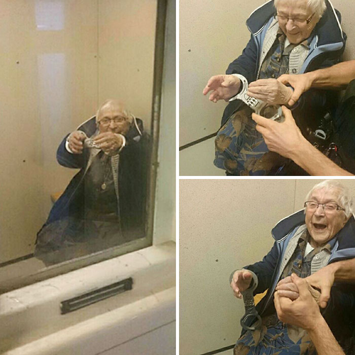 """Nearly 100-Year-Old Woman """"Arrested"""" To Fulfill Bucket List Item"""