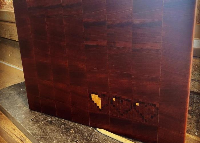 My Geeky 8 Bit End Grain Board