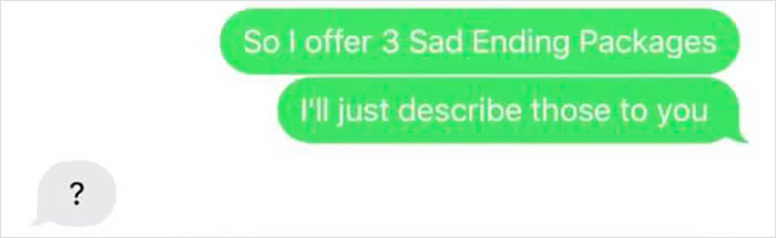 Guy Longed For A Happy Ending, But Received A Free Sad Ending In Hilarious Chat That Went Viral