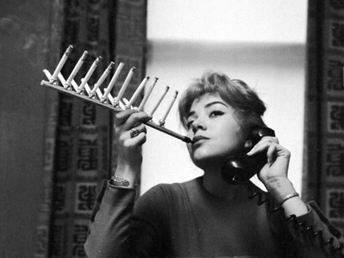 This 1955 Device For Smoking A Whole Packet Of Cigarettes At Once