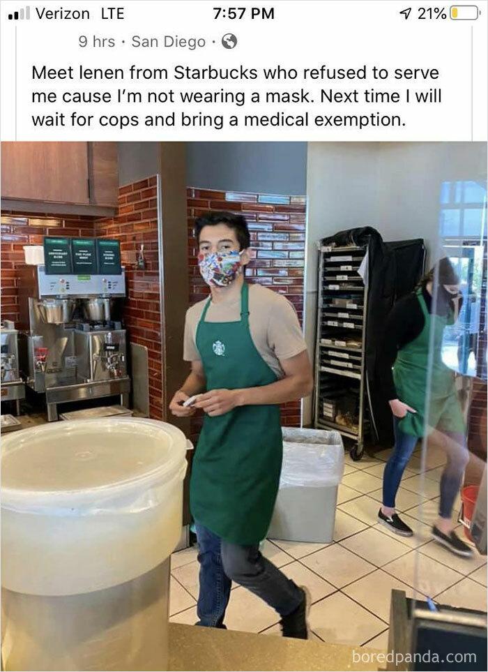 Poor Starbucks Employee...