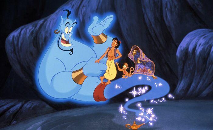 Toda la película de Aladino fue simplemente el cumplimiento de su primer deseo