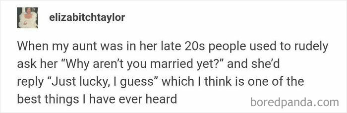 Personally... Marriage Means Nothing To Me