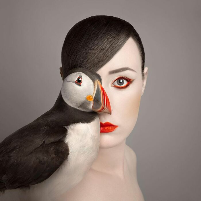 Photographer Takes Self-Portraits With The Eyes Of Animals In Her Series 'Animeyed' (13 New Pics)