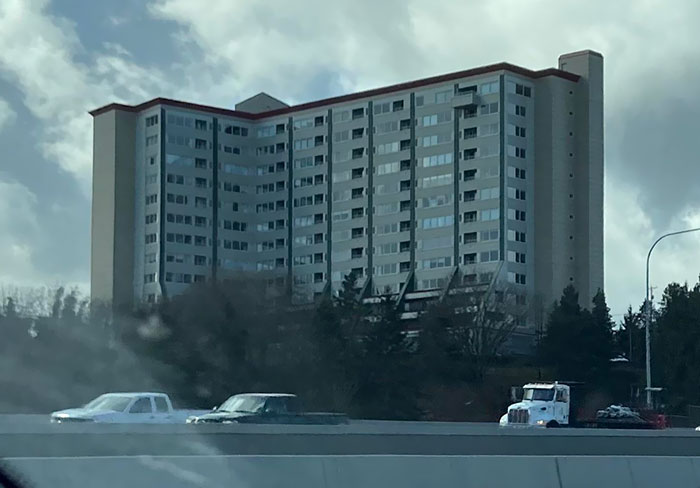 This Apartment Complex With One Extended Balcony