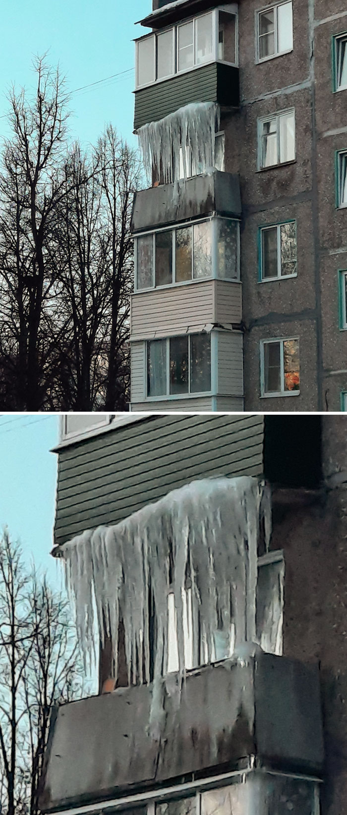 You Can Put Glass Windows On Your Balcony Or You Can Just Wait For Winter