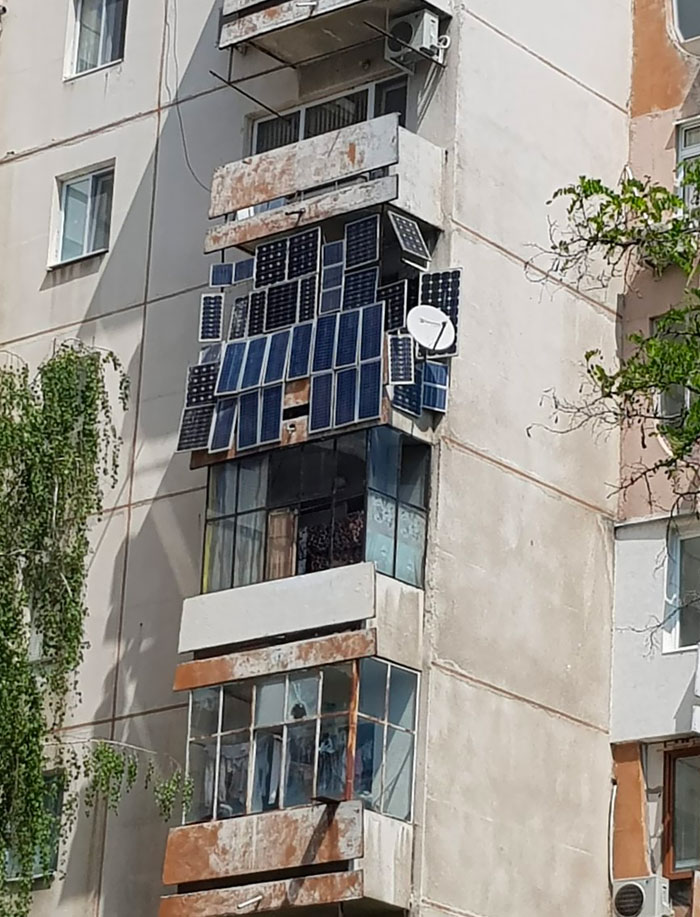 What About These Solar Panels, Mounted On The Balcony?