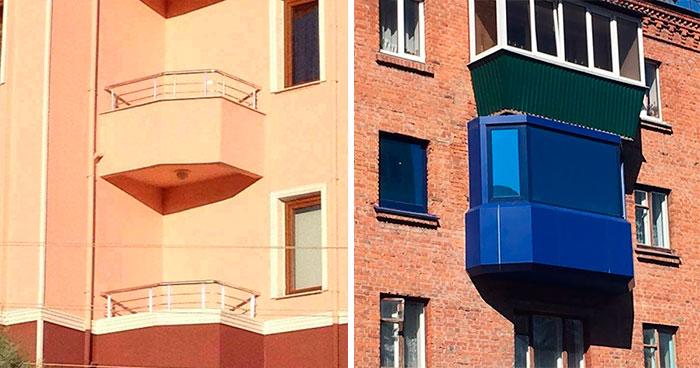 50 Balcones horribles y graciosos de alrededor del mundo
