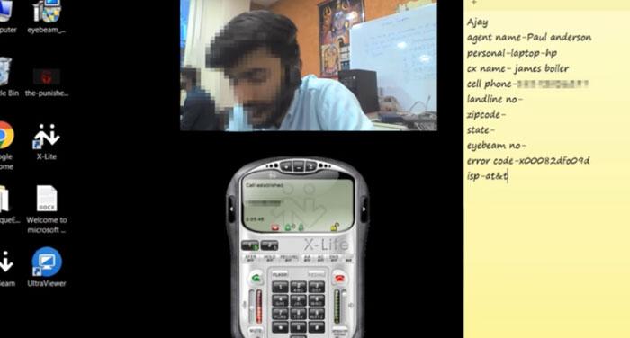 Este tipo muestra a un estafador la vista de su propia webcam en un vídeo viral que tiene casi 15 millones de visitas
