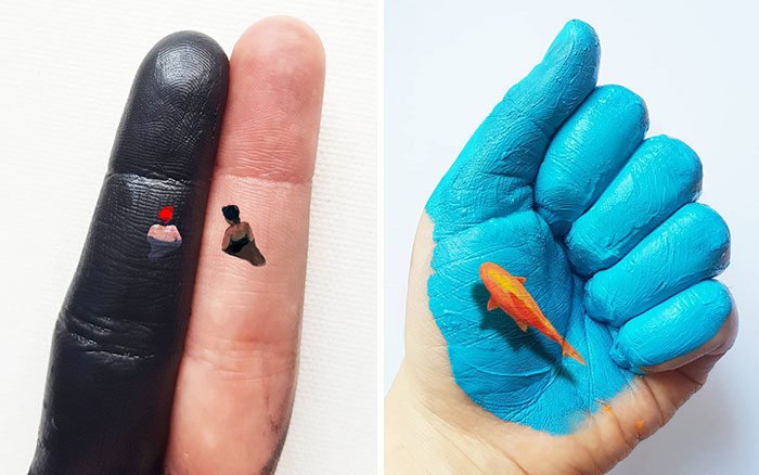 Artist Uses Her Hands As A Canvas To Show Her Hidden Worlds (39 Pics)