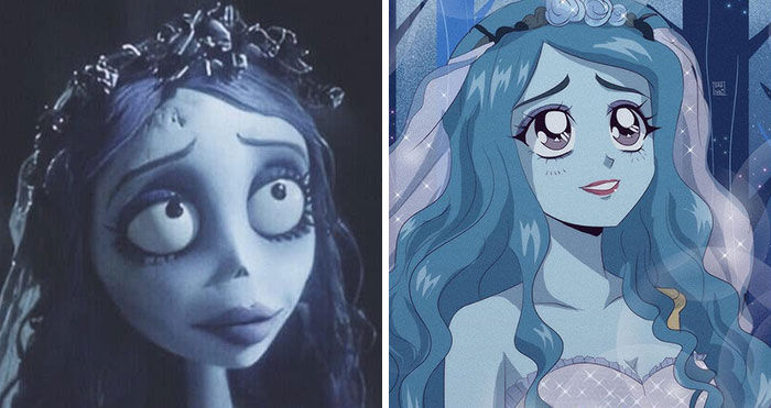 This Artist Recreates Popular Characters In Anime Style (60 Pics)