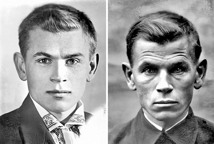 In 1941, The Photo On The Left Was Taken Of Soviet Soldier Eugen Stepanovich Kobytev On The Day He Left To Go To War. The Photo On The Right Was Taken In 1945 After The End Of The War, Just 4 Years Apart