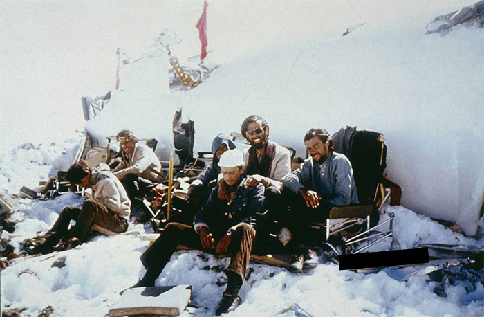 Survivors Of 1972 Of The Infamous Andes Plane Crash. The Passengers Resorted To Cannibalism To Survive 72 Days In The Snow